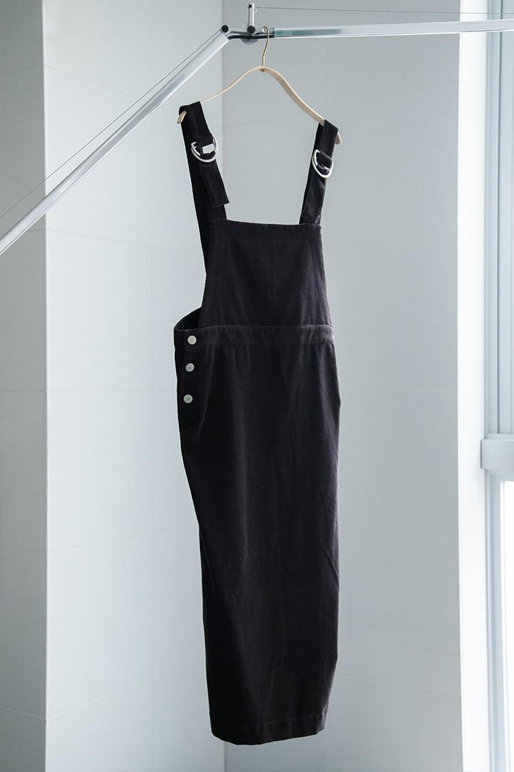 コーデュロイIラインジャンパースカート