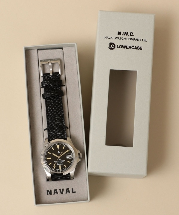 NAVAL WATCH Produced by LOWERCASE: AUTO LEATHER BAND WATCH (腕時計)