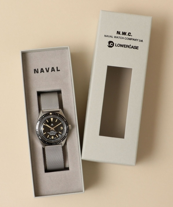 NAVAL WATCH Produced by LOWERCASE: QUARTZ MESH BAND WATCH (腕時計)