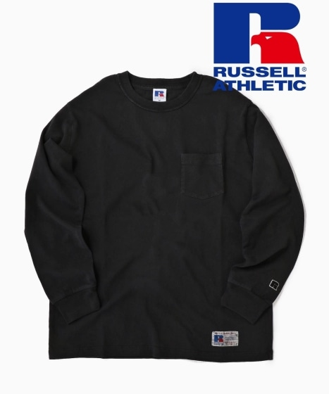 RUSSELL ATHLETIC×SHIPS: 別注 ユーズド加工 ロングTシャツ 19FW