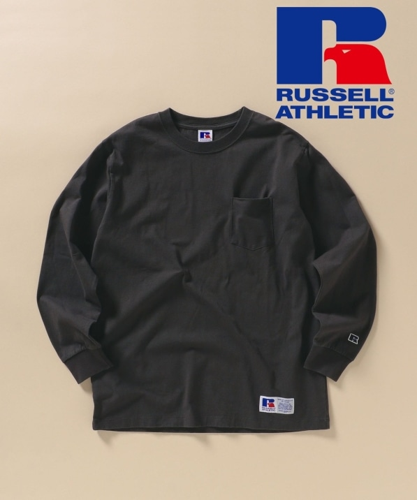 【SHIPS別注】RUSSELL ATHLETIC: ユーズド加工 ロンT 20FW
