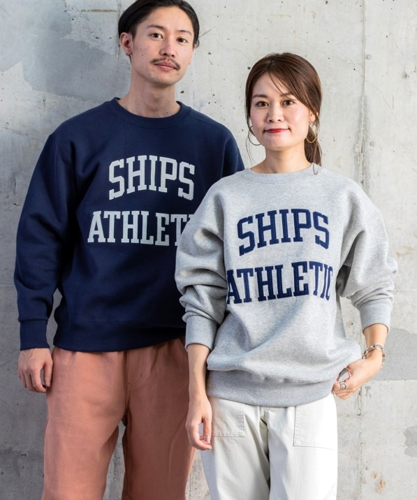 【WEB限定/SHIPS別注】RUSSELL ATHLETIC: SHIPS 45周年 特別企画 ビッグ ロゴ スウェット