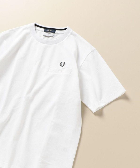 FRED PERRY: SHIPS別注 SOLOTEX(R) 鹿の子 ポケット Tシャツ