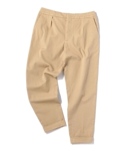 BARENA: WIDE TAPERED TWILL EASY PANTS