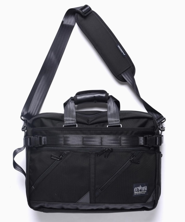 Manhattan Portage BLACK LABEL: ブラック MINETTA TRIANGLE BRIEFCASE (3WAY)