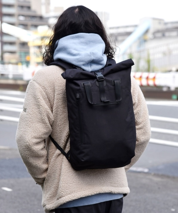 SHIPS: CORDURA(R)/FINE TEX(R)ナイロン ロール トップ バックパック