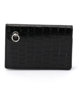 JHM:BLACK ZIP CARD CASE