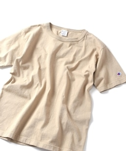 【MEN'S NON-NO 5月号 p.111掲載】SHIPS JET BLUE×Champion: 別注 made in usa T-1011 カラーTシャツ