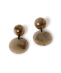 Marion Godart:RESIN 2CIRCLE EARRING