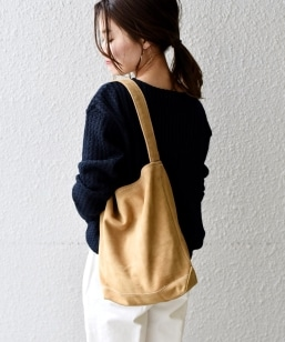 TEMBEA:SINGLE TOTE SUEDE