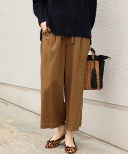 SHIPS Days STANDARD:WOOL TUCK WIDE PANTS