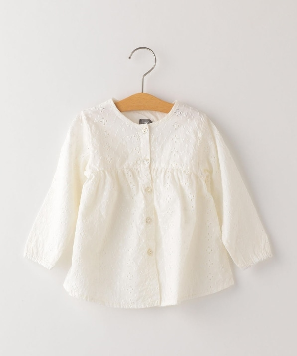 tocoto vintage:Embroidered cardigan blouse(90〜100cm)
