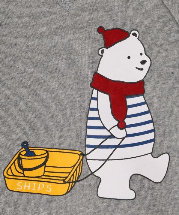 4521b74aaa1fd ... KIDS SHIPS KIDS ベビー ウィンター ベア スウェット(80~90cm). オフホワイト. グレー