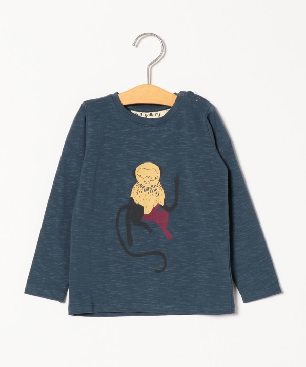 soft gallery:ORION BLUE MONKEY BABY GEO TEE(80〜90cm)