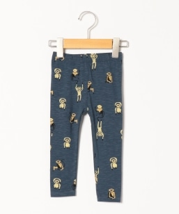 soft gallery:ORION BLUE MONKEY AOP PAULA BABY LEGGINGS(80〜90cm)