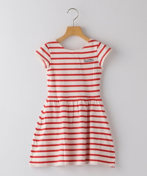 The Animals Observatory:Striped Butterfly Dress(100〜120cm)