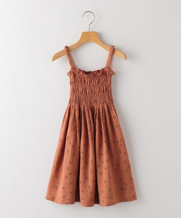 BOBO CHOSES:All Over Daisy Smoked Dress(100〜130cm)
