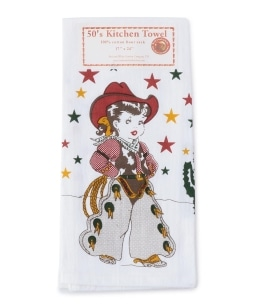 RED AND WHITE KITCHEN COMPANY:Little Cowgirl towel
