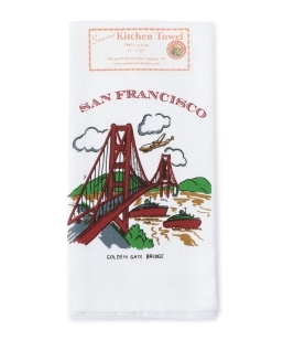 RED AND WHITE KITCHEN COMPANY:SanFrancisco GG Towel
