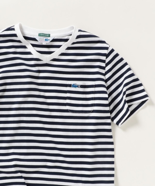SHIPS any×LACOSTE: 別注 ポケット Vネック Tシャツ