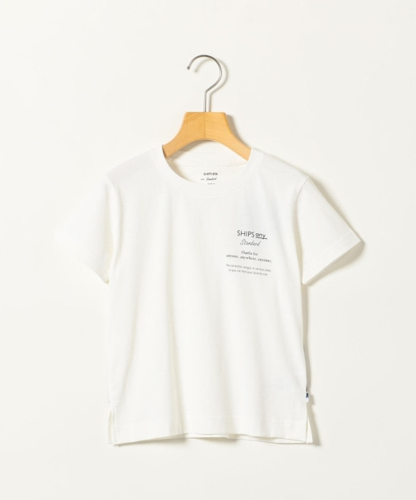 SHIPS any: STANDARD プリント Tシャツ <KIDS>